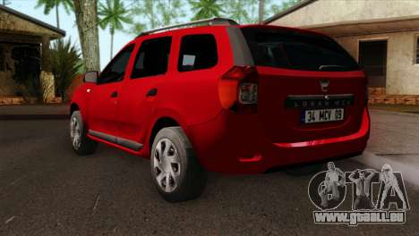 Dacia Logan MCV 2013 HQLM pour GTA San Andreas laissé vue