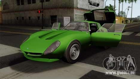 GTA 5 Grotti Stinger GT v2 SA Mobile für GTA San Andreas Rückansicht