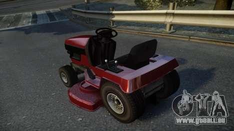 GTA V Lawn Mower pour GTA 4 Vue arrière de la gauche