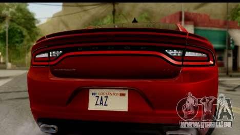 Dodge Charger RT 2015 pour GTA San Andreas vue de droite