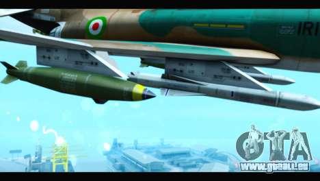 McDonnell Douglas F-4 IRIAF pour GTA San Andreas vue de droite