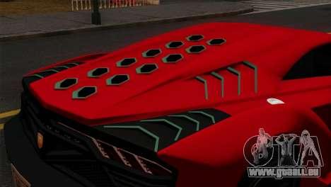 GTA 5 Pegassi Zentorno IVF pour GTA San Andreas vue arrière