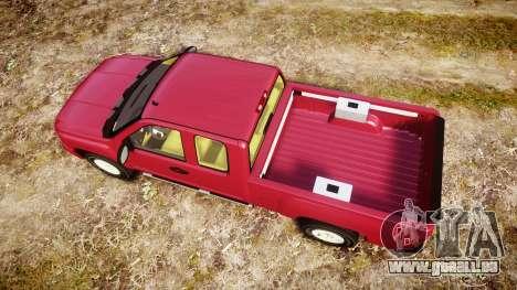 Chevrolet Silverado 1500 LT Extended Cab wheels1 pour GTA 4 est un droit