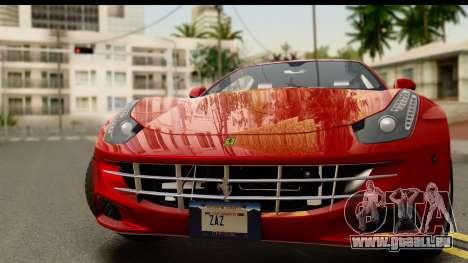 NFS Rivals Ferrari FF für GTA San Andreas zurück linke Ansicht