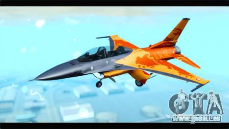 F-16D Fighting Falcon Dutch Demo Team J-015 pour GTA San Andreas