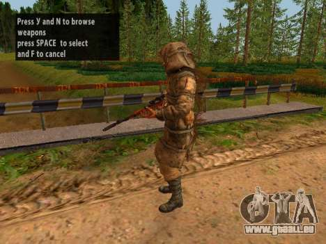 Soviétique Sniper pour GTA San Andreas septième écran
