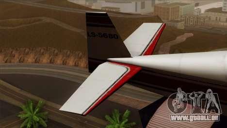 GTA 5 Stuntplane pour GTA San Andreas sur la vue arrière gauche