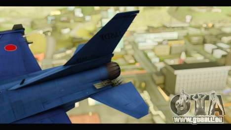 Mitsubishi F-2A JASDF Blue v2.0 für GTA San Andreas zurück linke Ansicht
