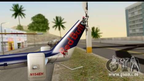 MBB Bo-105 Red Bull für GTA San Andreas zurück linke Ansicht