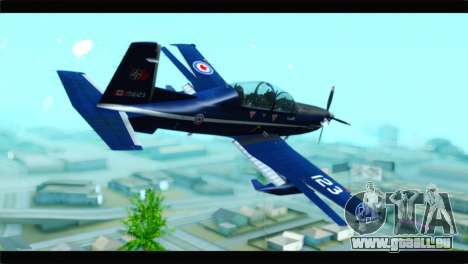 Beechcraft T-6 Texan II Royal Canadian Air Force für GTA San Andreas linke Ansicht