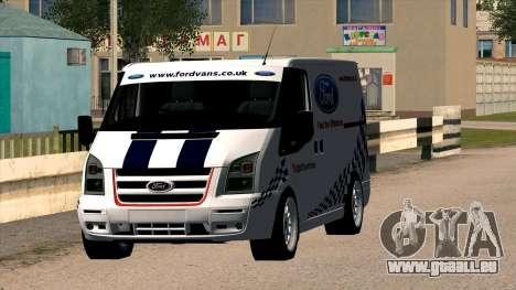 Ford Transit pour GTA San Andreas vue arrière