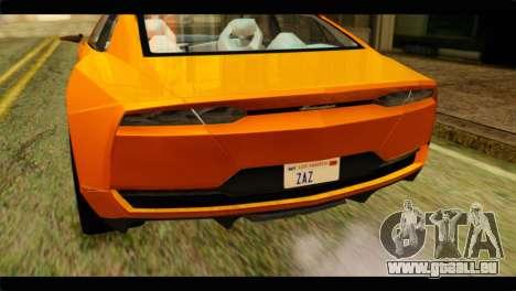 Lamborghini Estoque pour GTA San Andreas vue arrière