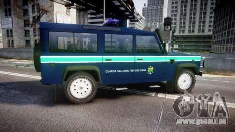 Land Rover Defender Policia GNR [ELS] pour GTA 4 est une gauche