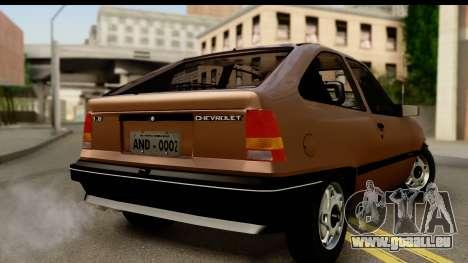 Chevrolet Kadett SL v2.0 pour GTA San Andreas laissé vue