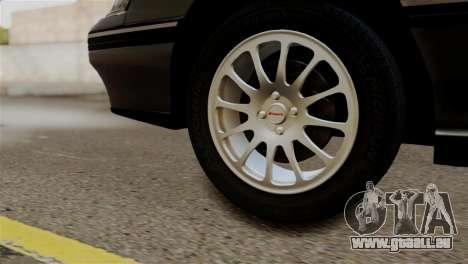 Subaru Legacy RS 1990 pour GTA San Andreas sur la vue arrière gauche