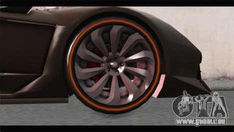 GTA 5 Pegassi Zentorno Spider für GTA San Andreas zurück linke Ansicht