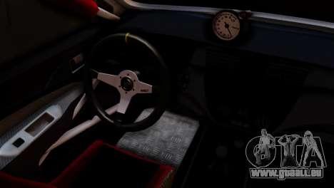 Mitsubishi Lancer Evo IX Monster Energy für GTA San Andreas zurück linke Ansicht