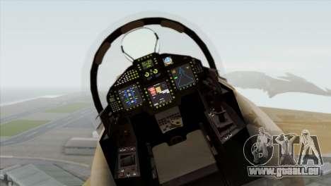 Eurofighter Typhoon Tropical Camo pour GTA San Andreas vue arrière