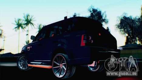 Range Rover Sport 2012 Samurai Design pour GTA San Andreas laissé vue