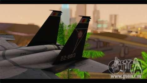F-15J Hyakuri Air Base 30th Anniversary für GTA San Andreas zurück linke Ansicht