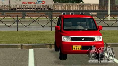 Mitsubishi eK Wagon pour GTA San Andreas vue arrière