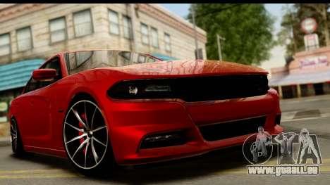 Dodge Charger RT 2015 für GTA San Andreas zurück linke Ansicht