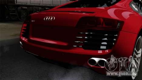 Audi R8 v2 für GTA San Andreas Rückansicht