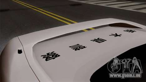 Honda NSX Police Car pour GTA San Andreas vue arrière