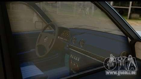 Mercedes-Benz 240 W123 Stance für GTA San Andreas Innenansicht