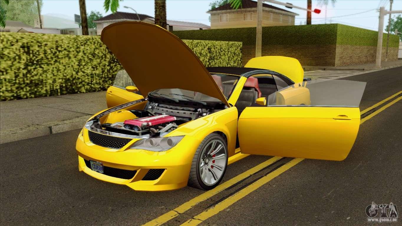 GTA 5 Ubermacht Zion XS Cabrio pour GTA San Andreas Ubermacht Zion Cabrio Gta 5