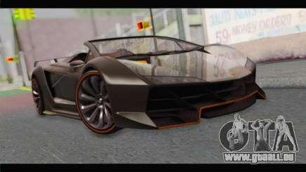 GTA 5 Pegassi Zentorno Spider für GTA San Andreas