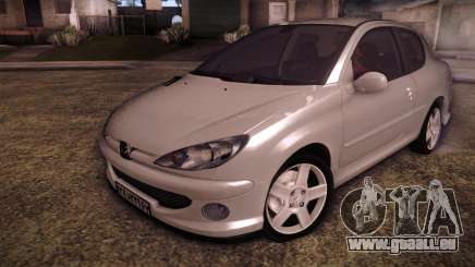 Peugeot 206 SD Coupe für GTA San Andreas