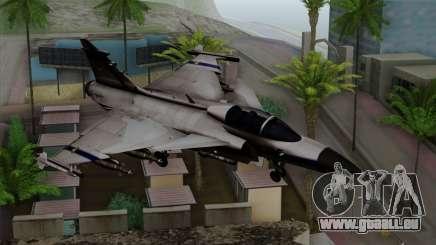 Saab 39 Gripen Custom Indigo Squadron für GTA San Andreas