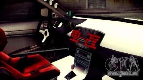 Mitsubishi Lancer Evolution X Juuzo Itasha für GTA San Andreas rechten Ansicht