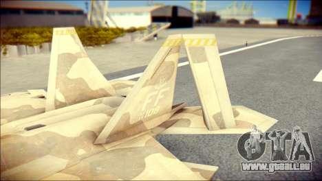 F-22 Raptor Desert Camo für GTA San Andreas zurück linke Ansicht