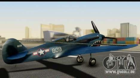 P-40E Kittyhawk US Navy pour GTA San Andreas laissé vue