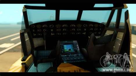 GTA 5 Cargobob pour GTA San Andreas sur la vue arrière gauche