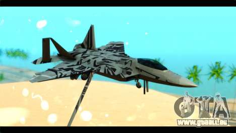 F-22 Raptor Starscream pour GTA San Andreas