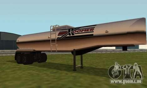 PS2 Petrol Trailer pour GTA San Andreas laissé vue