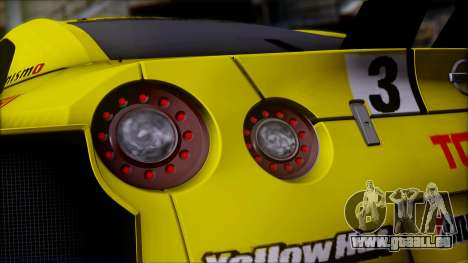 Nissan GTR R35 JGTC Yellowhat Tomica 2008 für GTA San Andreas obere Ansicht