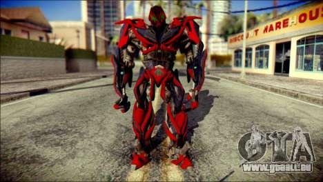 Stinger Skin from Transformers für GTA San Andreas