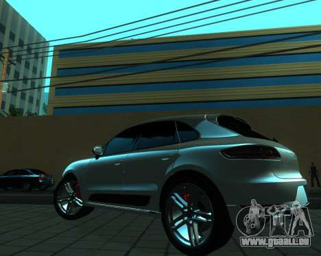Porsche Macan Turbo für GTA San Andreas Rückansicht