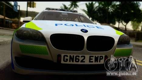BMW 530d Kent Police RPU pour GTA San Andreas sur la vue arrière gauche