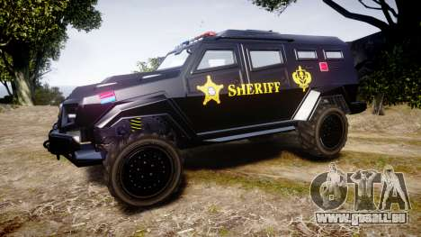 GTA V HVY Insurgent Pick-Up SWAT [ELS] für GTA 4 linke Ansicht