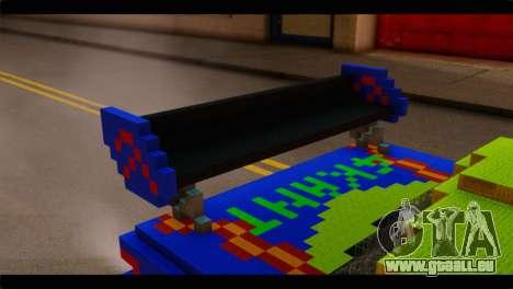Minecraft Elegant pour GTA San Andreas vue arrière
