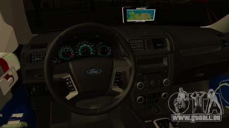 Ford Fusion 2011 Sri Lanka Police pour GTA San Andreas vue intérieure