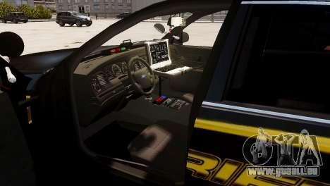 Ford Crown Victoria Sheriff LC [ELS] pour GTA 4 Vue arrière de la gauche