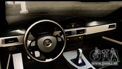 BMW M3 E90 Hamann pour GTA San Andreas vue intérieure