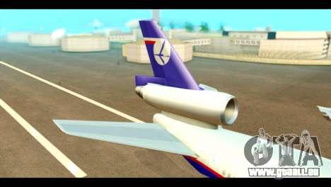 DC-10-30 PLL LOT für GTA San Andreas zurück linke Ansicht