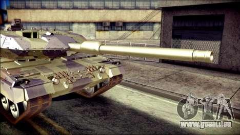 Leopard 2A6 für GTA San Andreas Rückansicht